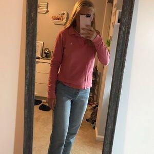 Ralph Lauren pink long sleeve polo